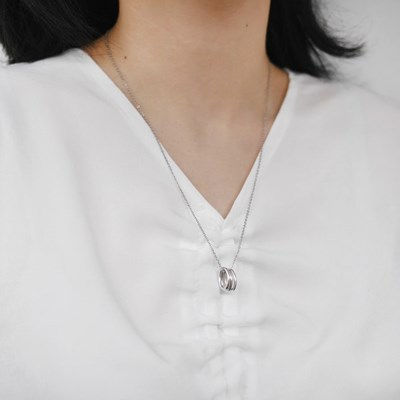 triple ring necklace (실버컬러)