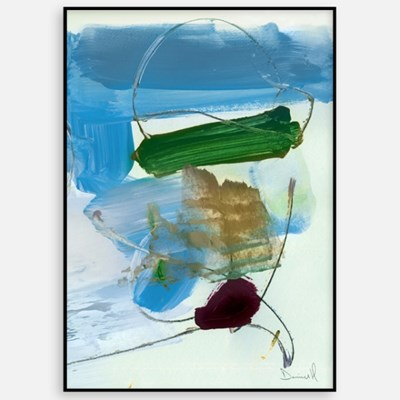 추상화 패브릭 포스터 거실 인테리어 그림 액자 블루그린