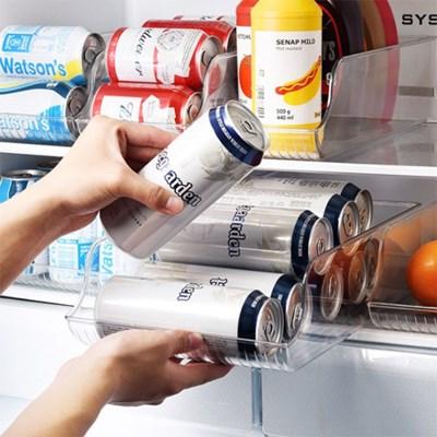 냉장고 정리 수납 캔맥주 음료수 트레이 바스켓