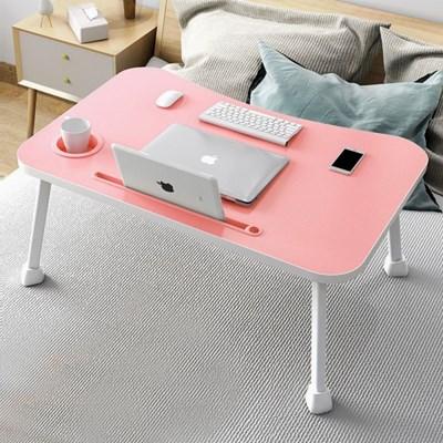 테블릿 컵홀더 네다리 좌식 테이블(핑크)