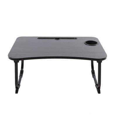 테블릿 컵홀더 고급 접이식 좌식 테이블(블랙)