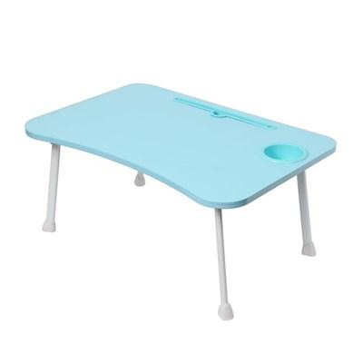 테블릿 컵홀더 네다리 좌식 테이블(블루)