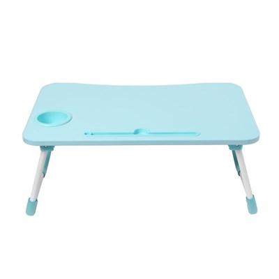 테블릿 컵홀더 접이식 좌식 테이블(블루)