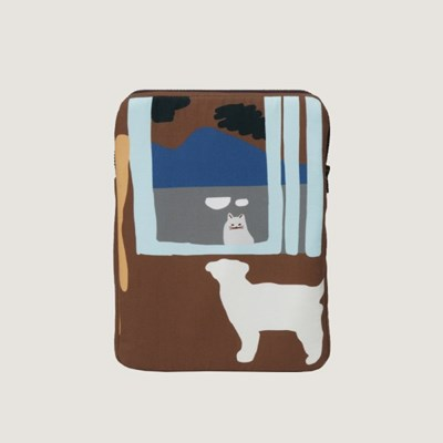 the window - brown iPad / Tablet case