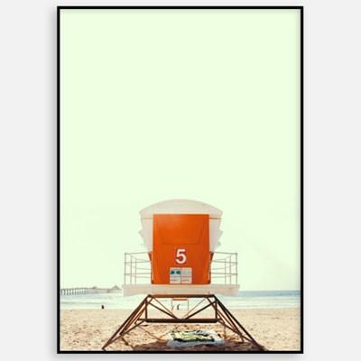 패브릭포스터 모던 빈티지 카페 거실 인테리어 그림 액자 해변