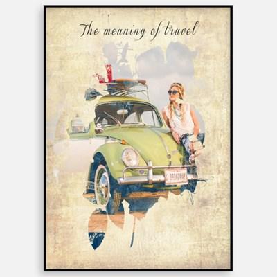 빈티지 카페 거실 인테리어 그림 액자 패브릭 포스터 트래블