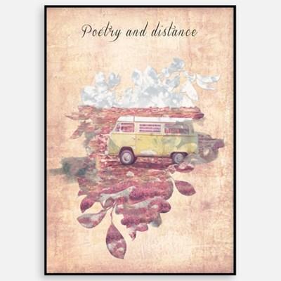 빈티지 카페 거실 인테리어 그림 액자 패브릭 포스터 여행