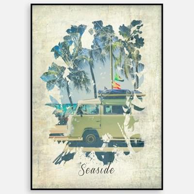 빈티지 카페 거실 여름 인테리어 그림 액자 패브릭 포스터 해변