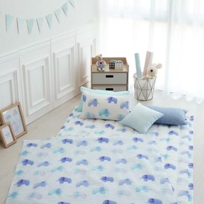 [세트] 엘레팡트(블루) - 면 리플 여름용 낮잠이불세트