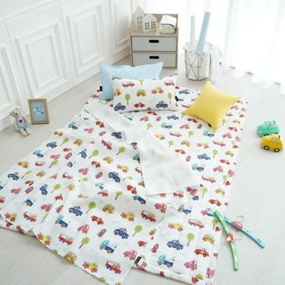 [세트] 썸머붕붕 - 면 리플 여름용 낮잠이불세트