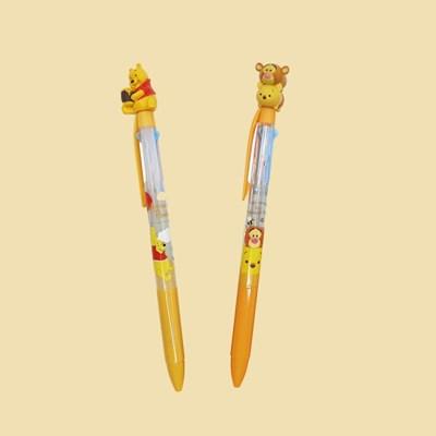 디즈니 푸우 캐릭터 3색 볼펜