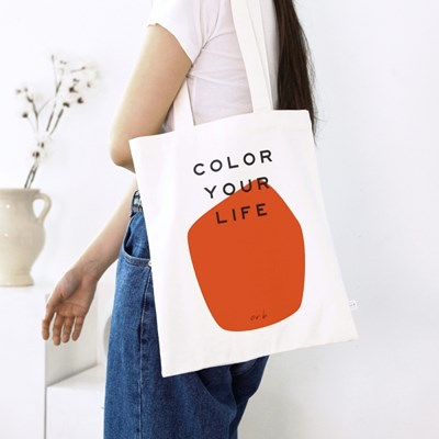 COLOR YOUR LIFE BAG_ORANGE PRINT