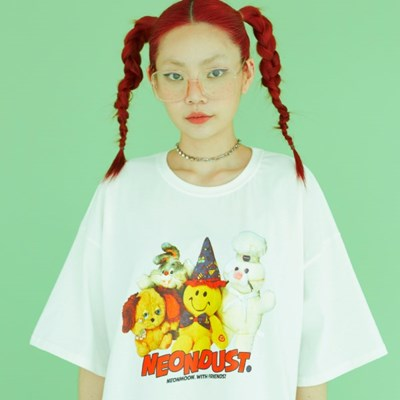 NEONDUST 20SM Friends T-shirt_WHITE
