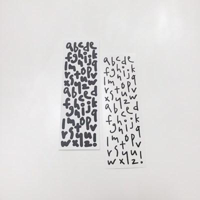 [본쥬흐네] 소문자 알파벳스티커 (블랙, 칼라)