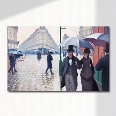 구스타브 카유보트 비오는 날 파리의 거리 캔버스 명화 액자
