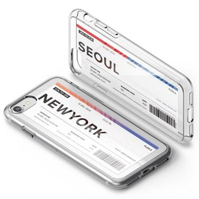 PLAN.A 에어플레인 티켓 시리즈 아이폰 SE2 2020 투명 케이스