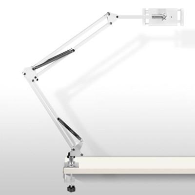 크리에이트 태블릿 아이패드 책상 자바라 거치대 T10 화이트