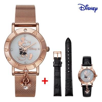 디즈니 미키마우스 여성 메쉬메탈 손목시계 OW035DBRM