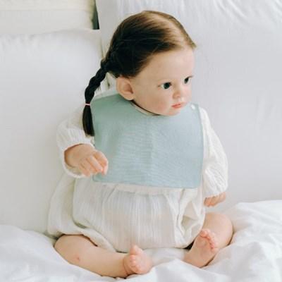 턱받이 파스텔스카이사각턱받이 아기 침받이 빕