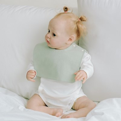 턱받이 파스텔민트사각턱받이 아기 침받이 빕