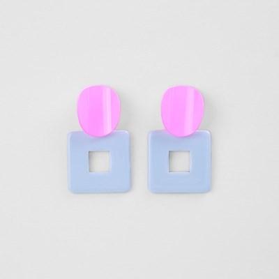 [쥬디앤폴] 돌체 빅 컬러 포인트 스퀘어 드롭 귀걸이 E51529