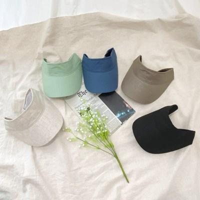 짧은챙 썬캡 모자 여름여성 창모자_(188335)