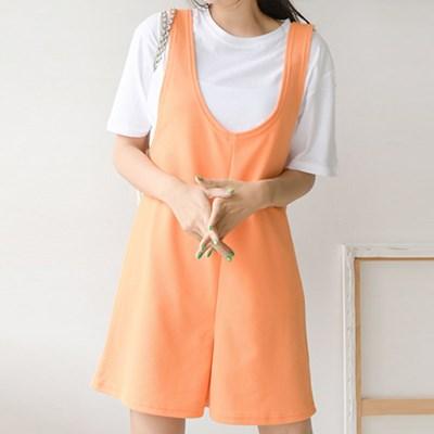 상큼한 레몬트리 점프수트 티셔츠 세트(set707)_(1836365)