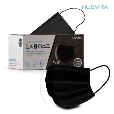 휴비타 4중 멜트브로운 MB필터 일회용 마스크 블랙 50매_(1366287)