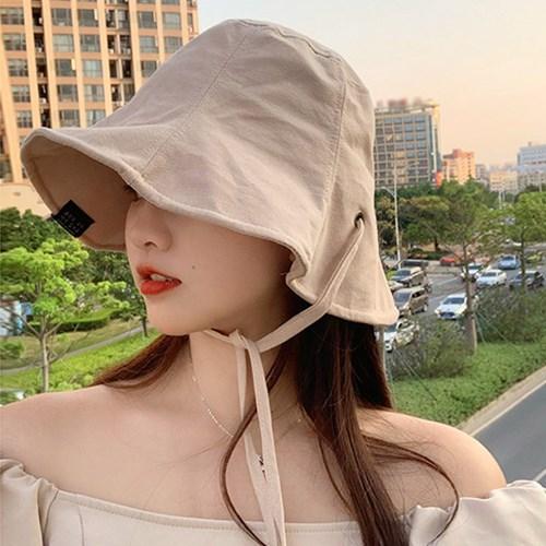 라엣 여성 자외선 햇빛차단 러블리 끈 벙거지 모자_(2434697)