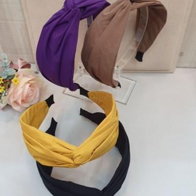 무지 컬러 꼬임 패션 두꺼운 명품 연예인 머리띠