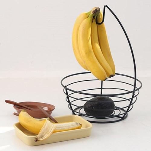 모던 인테리어 바나나걸이 바스켓 K10741 다크그레이