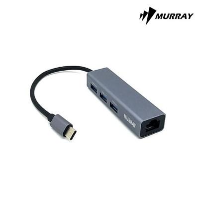 머레이 C타입 LAN USB 3.0 컨버터 HUB C-USB3