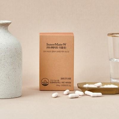 티읕 여성 질 유래 특허 유산균 이너메이트 더블유(1팩 30캡슐)