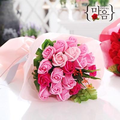 장미 20송이 꽃다발 핑크 로즈데이 성년의날 부부의날_(2666838)