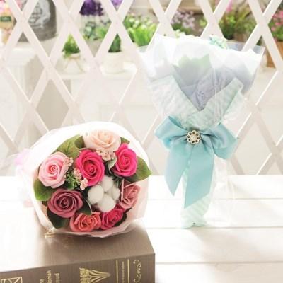 코튼 로즈 꽃다발 핑크 로즈데이 성년의날 부부의날_(2666250)