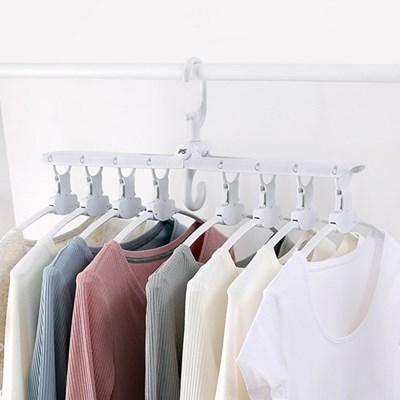 정장 코트 와이셔츠 옷걸이 멀티 8단 미끄럼방지 걸이
