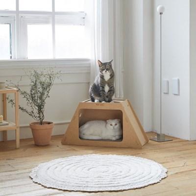 100% 국내제작! 친환경 고양이 리고스크래쳐 하우스형