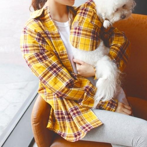 강아지커플룩 견주 올인원 여름옷 셔츠 반팔 애견_(3085601)