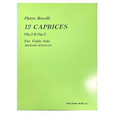 (전시상품) Pierto Rovelli 12 CAPRICES Op.3 & Op.5