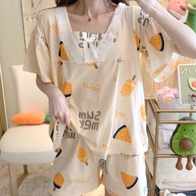 여름 잠옷 파자마 홈웨어 여름파자마세트 러블리 썸머 홈웨어세트