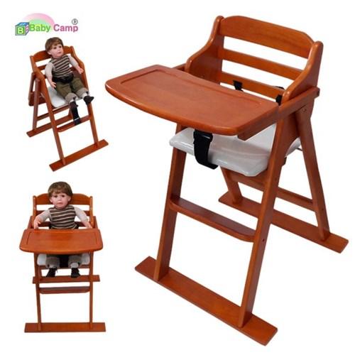 [베이비캠프]유아용 접이식 원목식탁의자(체리색)
