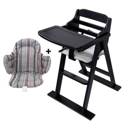 [베이비캠프]월넛 유아용 식탁의자와 쿠션세트