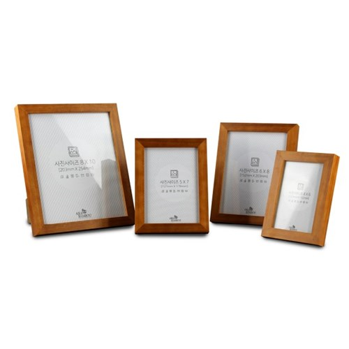 원목 브라운 프레임 탁상 액자 모음