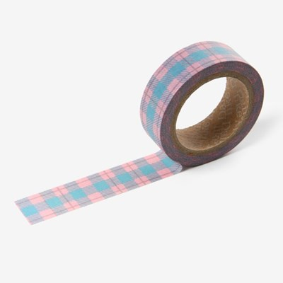 Masking tape single - 163 Vintage check (Pink)