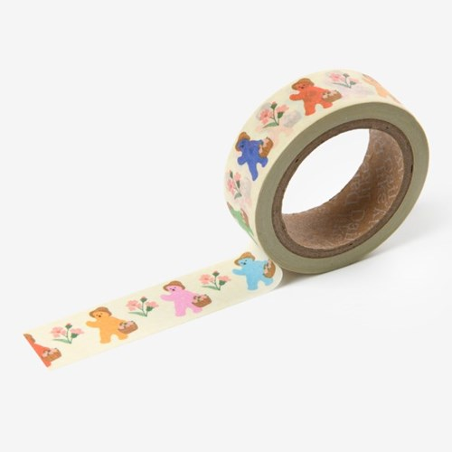 Jelly bear masking tape - 02 Storybook
