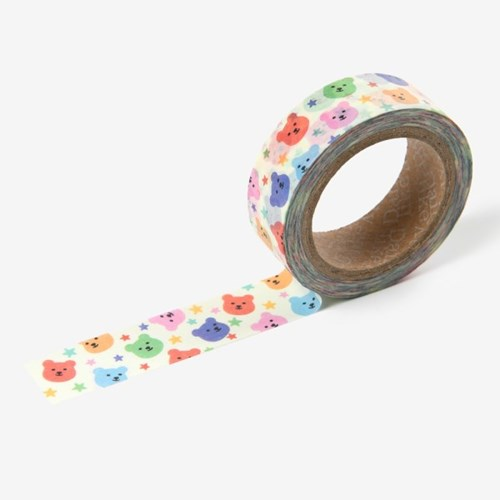 Jelly bear masking tape - 04 Party