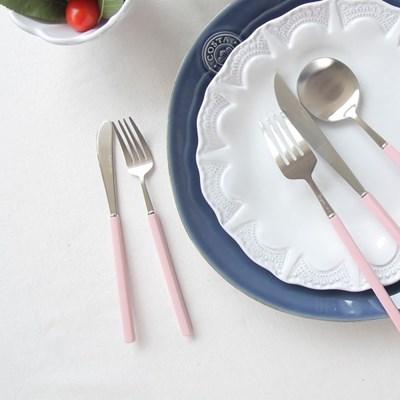 몽블랑 피노 실버 커트러리 - 샐러드포크 (5컬러 택1)