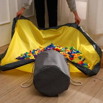 장난감정리함 패브릭 블럭정리함 놀이매트 몬스터 바구니
