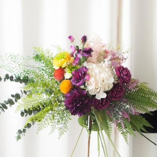 감성 조화 어렌지 꽃 모음 셀프 웨딩 부케 인테리어_(1833229)