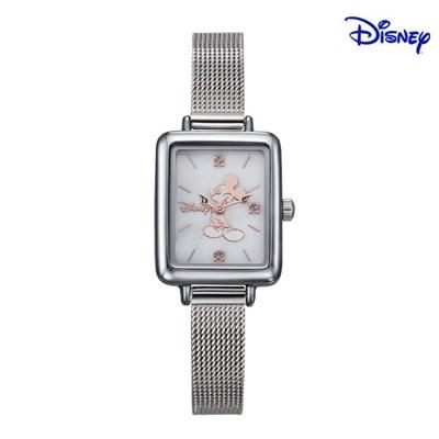 디즈니 미키마우스 여성 사각 메탈손목시계 D11019MWH